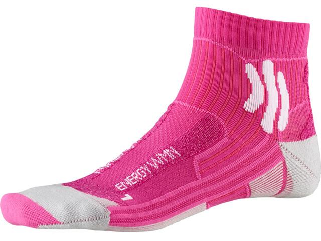 X-Socks Marathon Energy Chaussettes Femme, flamingo pink/arctic white